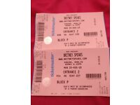 Britney Spears Tickets 3 Arena Dublin 20th August 2018 (£85 each)
