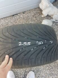 Car tyre for free. Size is 225 40zr17 94w