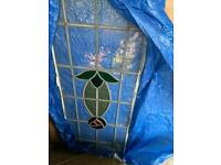 Stained glass panes Tiffany light