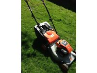 Petrol lawnmower -Briggs&Stratton powered Flymo Quicksilver with DRIVE