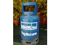 Almost full 7kg Calor Gas cylinder with free bbq.