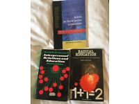 3x Educational Theories textbooks