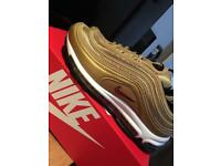 Nike air max 97 gold/wht uk 6 and 7
