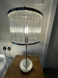 Perspex bedside lamps