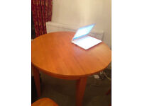Folding dining table with 4 chairs -3 ft circular