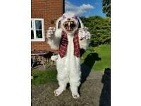 Halloween scary rabbit costume *rare*