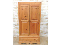 Cheap Pine Heavy duty wardrobe with Drawer (Delivery)