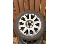 Audi alloys 205/55/16 just refurbed good tyres quick sale £80 no offers