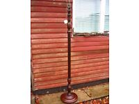 standard lamp, vintage, solid hard wood, floor standing