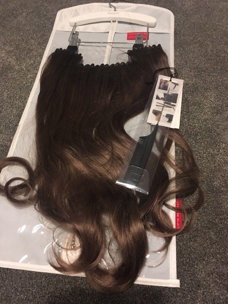 Clip In Hair Extension Piece By Balmain 45cm Brown Brand New