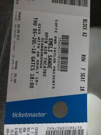 2 x Emili Sande tickets with hotel room @ Scarborough