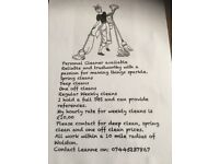 Personal cleaner available