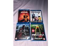 4 Blu-Ray DVD's