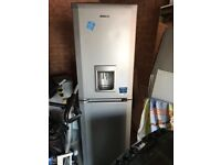 BEKO Frost Free Fridge Freezer With Water Dispenser - Silver Colour- Excellent condition