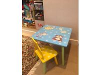 Child table with a chair