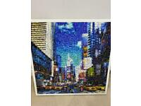 New York City limited edition mosaic tiles framed canvas