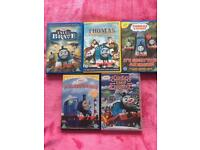 X5 Thomas the tank and friends DVD 's