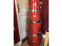 Orange County OCDP Drums and Percussion Orange Sparkle Drum Kit