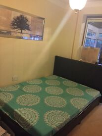 Double bed Faux leather and mattress