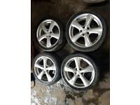 O.Z sport alloys wheels with tyres 215/45/17 for Audi/Vw