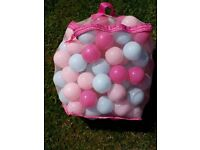 Bag of pink balls for playpen etc- never used