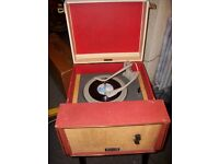 Original Vintage Early 1960s Dansette Valve Record Player On Legs - Working.