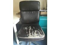 John Lewis Amy Office Chair in Faux Brown Leather