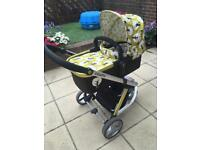 Cosatto giggle 1 pushchair and carrycot
