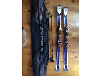 Salomon Ski's x-wing blast, plus poles and bag. 170cm. Used for one season