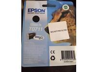 Epson black ink cartridge T0711
