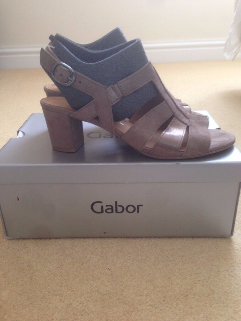 Brand new in box Gabor Comfort Suede Sandals, Gold, UK size 7