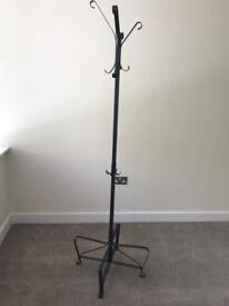 Black iron coat stand