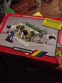 old britains milking station retro toy