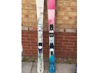 Ladies Skis Volkl Yumi and Rossignol Temptation 82