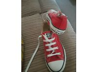 Converse Unisex Red Trainers size 2 1/2