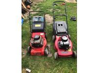 2 lawnmowers spares or repairs