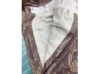 "**GORGEOUS LINED CURTAINS** x 2 PAIRS...lined. 74"" wide 82"" drop"