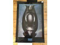 HR GIGER (Alien film) posters, prints, various sizes.