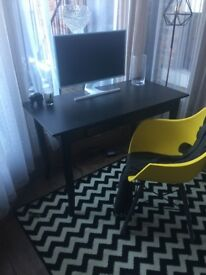 Ikea Drawing desk - Black oak