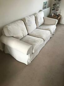 Cream/beige 3 person sofa