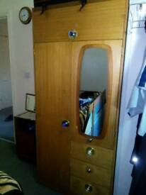 2 wardrobes, 2×2 seaters, 3 seater, single bed with mattress, 1 cupboard.
