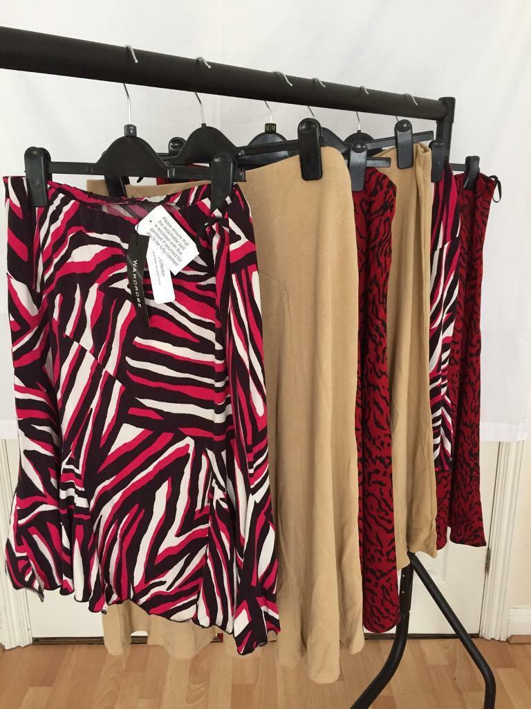 Brand New. Job lot of skirts sizes 12, 14 and 16