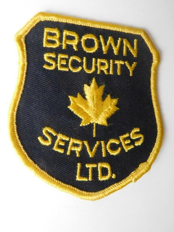 BROWN SECURITY SERVICES OFFICER VINTAGE PATCH BADGE BC CANADA POLICE