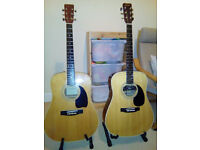 Two Korean Acoustic Guitars for Sale