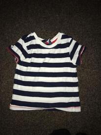 12-18 months boys top black/white stripe top