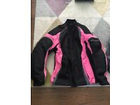Ladies frank thomas motorcycle coat & gloves