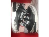 **BRAND NEW** Nike Air Jordan 3 Retro OG Black Cement UK 6.5