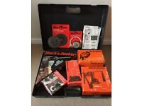 Vintage Black & Decker Drill Set With Multiple Attachments, Case, New & Used Parts