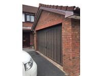 Electric double garage door