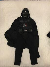 Star Wars Disney darth Vader Costume and mask 5/6 years